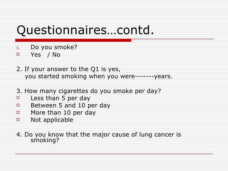 Smoking report writing