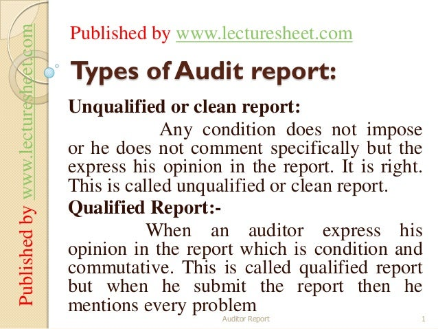 Published by www.lecturesheet.com   Published by www.lecturesheet.com                                    Types of Audit re...