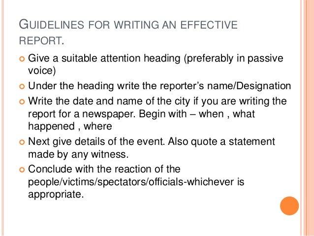 report writing rh slideshare net guidelines for report writing in research guidelines for report writing ppt