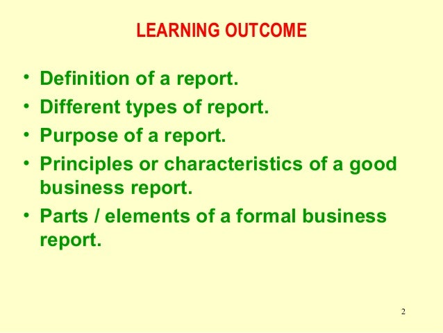 Definition Of Business Report Business Consi