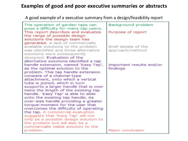 how do you write an executive summary