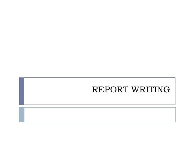 Report Writing Sample Report - PDF