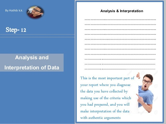 What are some tips for writing a data analysis report?
