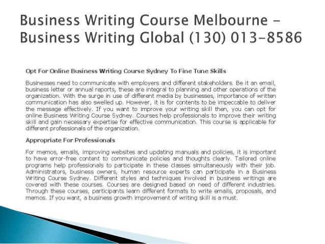 Online business writing courses