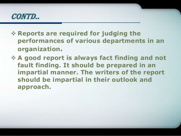 Report writing Slide 3