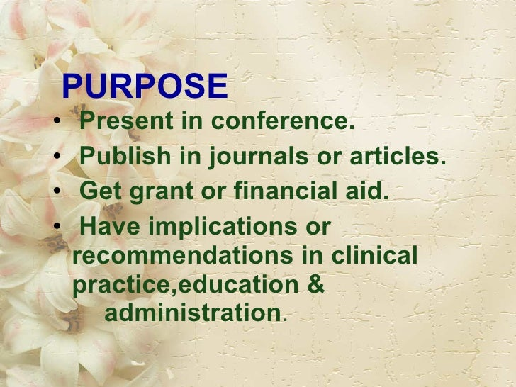 purpose of research writing