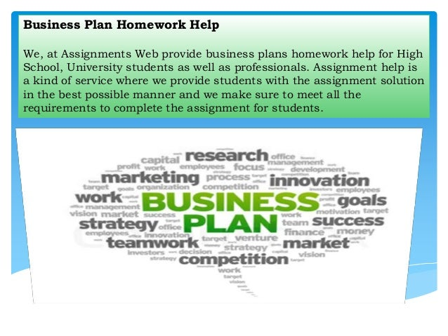 Help with writing assignments business report