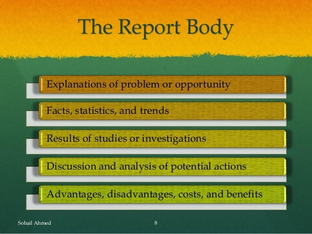 advantage of report writing