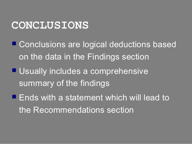Conclusions recommendations thesis