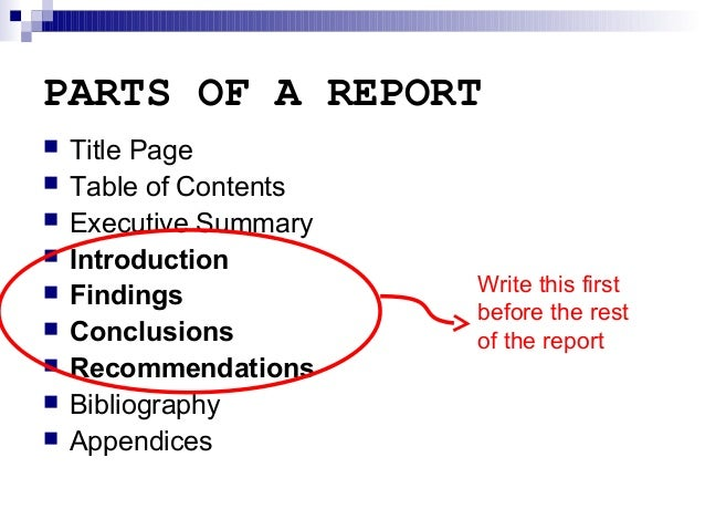 how to write a field report introduction page