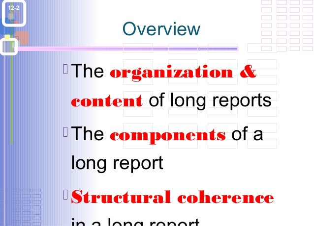 Long report writing