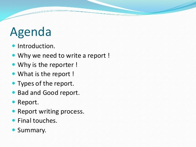 How To Write A Formal Report