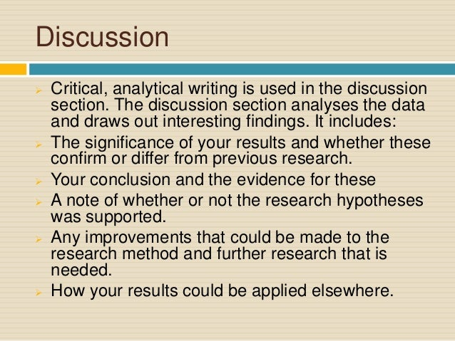 writing a discussion section in psychology