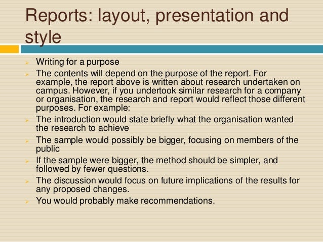 Report Writing for Academic Purposes