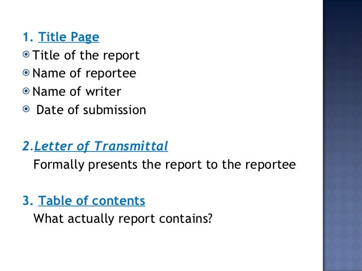 Report writing pdf notes