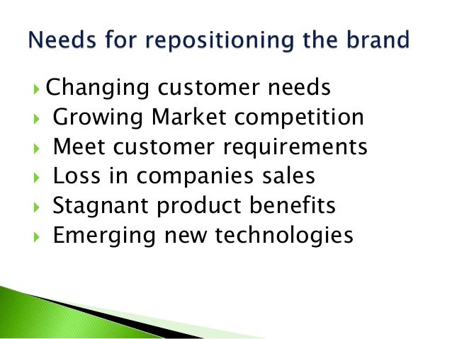 brand repositioning problems Brand repositioning focuses on changing what customers associate with the brand and sometimes competing brands this usually entails a change in the brand's promise and its personality taglines often change with brand repositioning (to communicate the new promise) and sometimes the identity itself is updated or refreshed to reinforce the change in the brand's positioning.