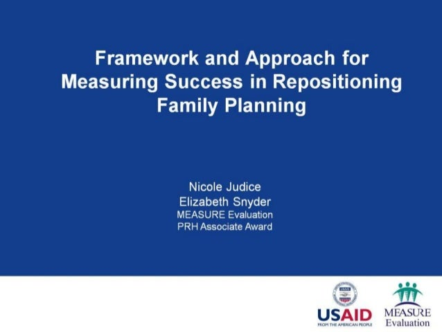 Measuring Success in Repositioning Family Planning