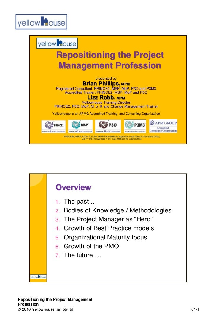 Repositioning the Project                  Management Profession                                                      pres...