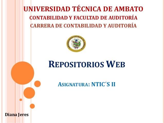 UNIVERSIDAD TÉCNICA DE AMBATO              CONTABILIDAD Y FACULTAD DE AUDITORÍA              CARRERA DE CONTABILIDAD Y AUD...