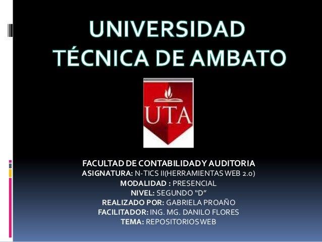 FACULTAD DE CONTABILIDAD Y AUDITORIAASIGNATURA: N-TICS II(HERRAMIENTAS WEB 2.0)          MODALIDAD : PRESENCIAL           ...