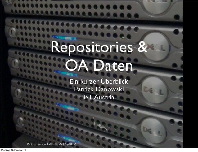 Repositories &                                                 OA Daten                                                   ...
