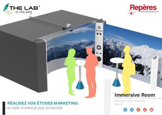 Immersive Room Enceintes 5.1 poly-sensorielles Mai 2017RÉALISEZ VOS ÉTUDES MARKETING en salle immersive poly-sensorielle