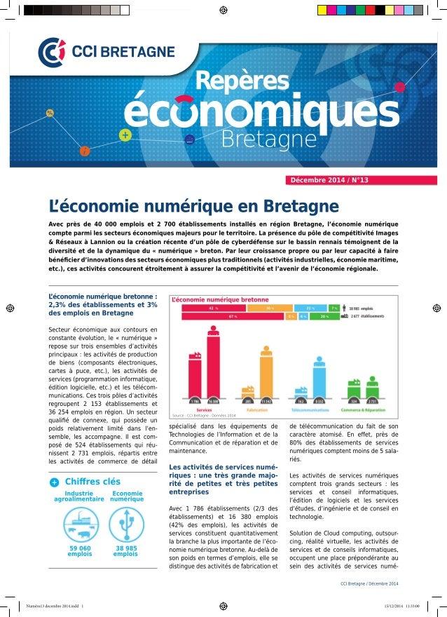 Repères économiques Bretagne N°13 : L'économie numérique en Bretagne