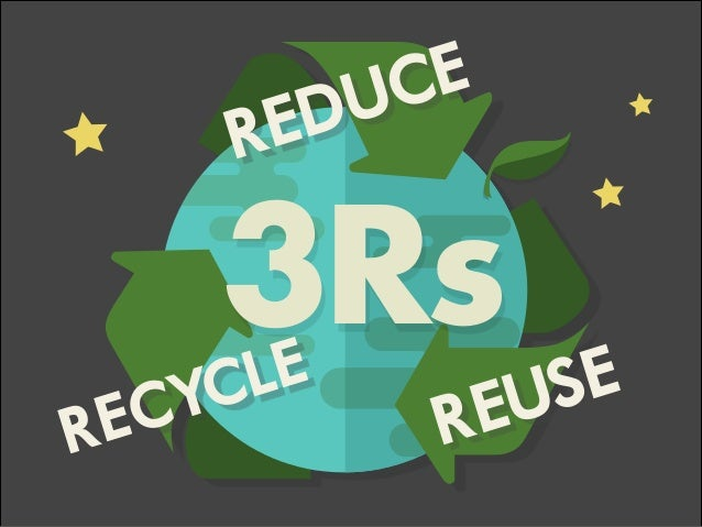REUSE 3Rs RECYCLE REDUCE