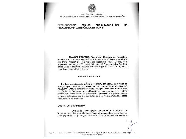 Procurador da República contra Márcio Thomaz Bastos