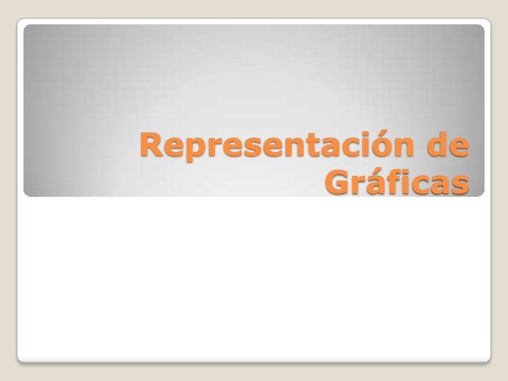 Representación de         Gráficas