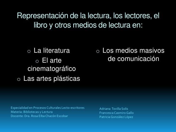 Representación de la lectura (para compartir) Slide 2