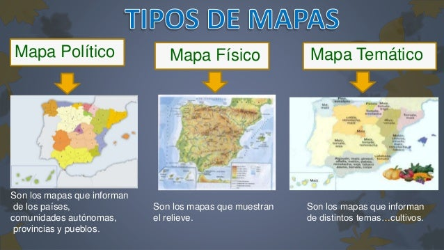 Resultado de imagen de tipos de mapas fisico politico y tematico