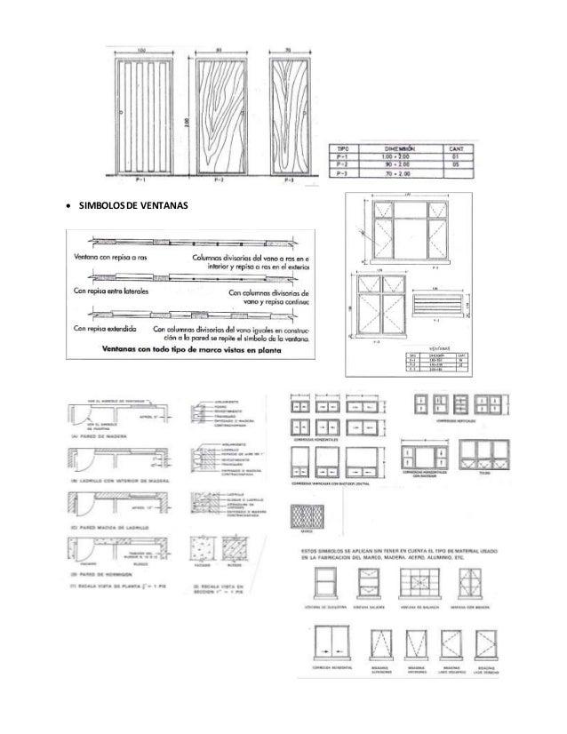 Representaci n gr fica de planos arquitect nicos for Simbologia de niveles en planos arquitectonicos