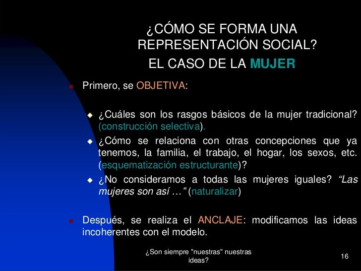 Representaciones sociales