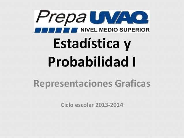 Estadística y Probabilidad I Representaciones Graficas Ciclo escolar 2013-2014