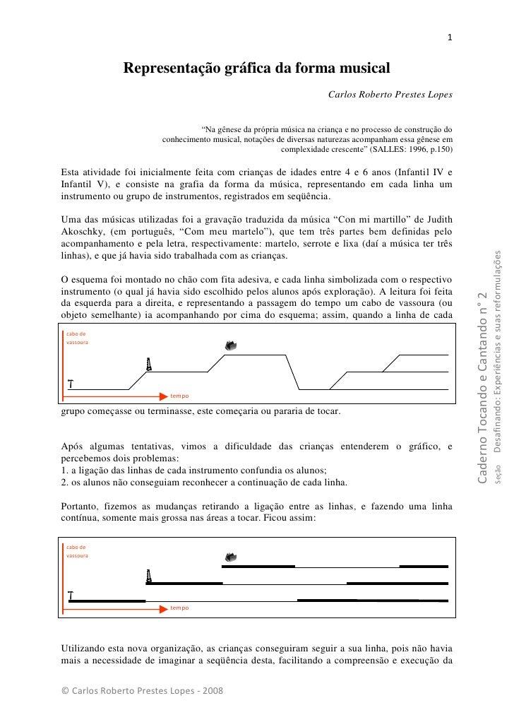 1                 Representação gráfica da forma musical                                                                  ...