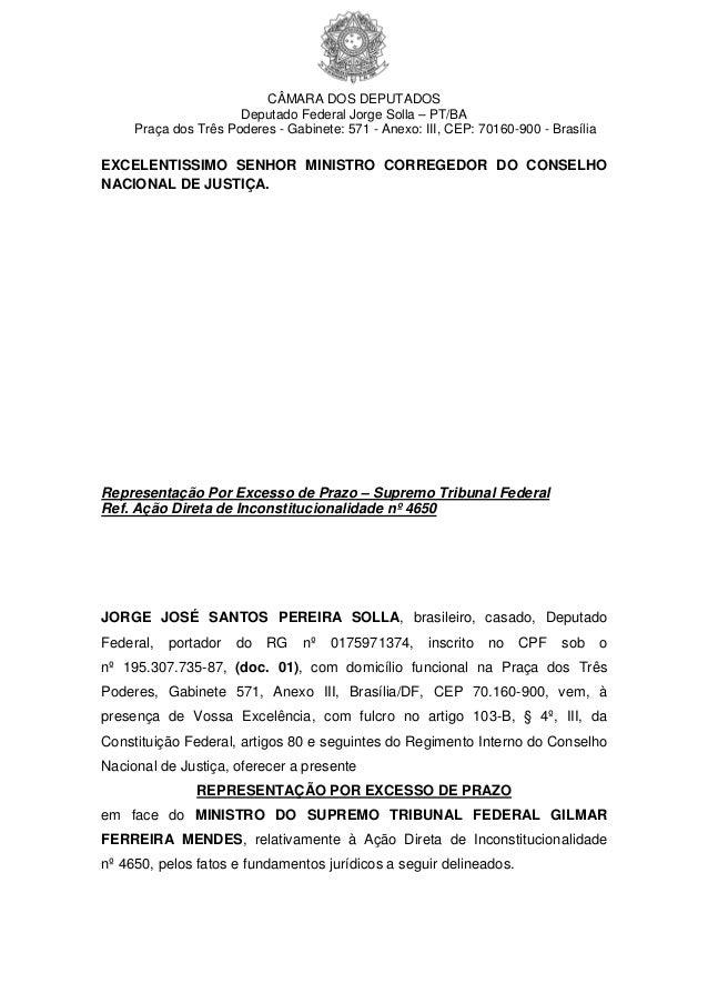CÂMARA DOS DEPUTADOS Deputado Federal Jorge Solla – PT/BA Praça dos Três Poderes - Gabinete: 571 - Anexo: III, CEP: 70160-...