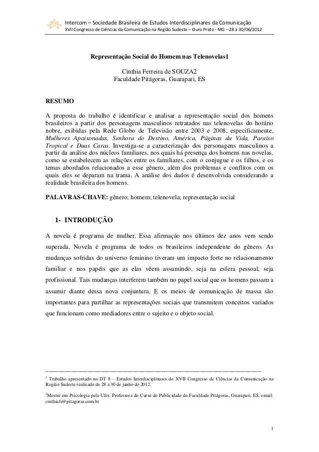 Intercom – Sociedade Brasileira de Estudos Interdisciplinares da Comunicação XVII Congresso de Ciências da Comunicação na ...