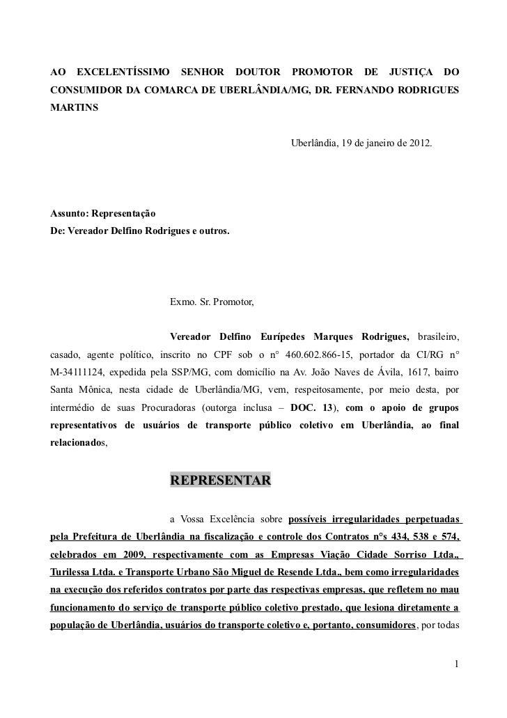 Representação tarifa passagem transporte coletivo