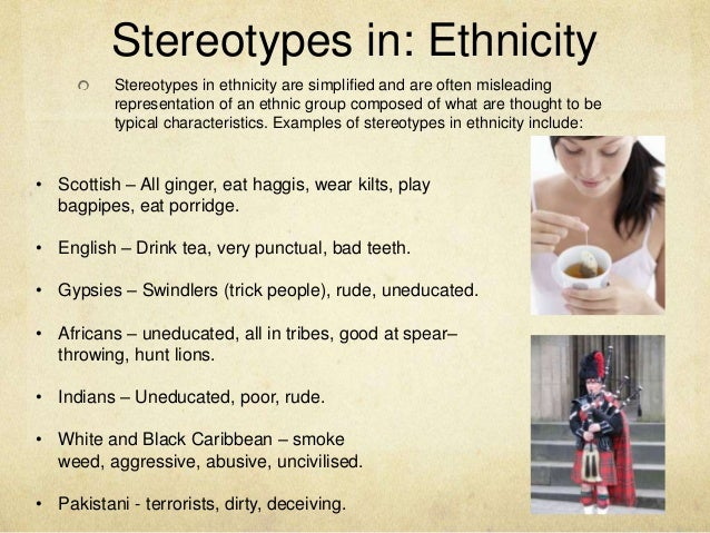 stereotypes of ethnic groups