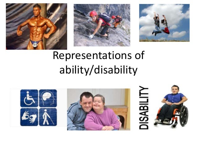 Representations of ability/disability