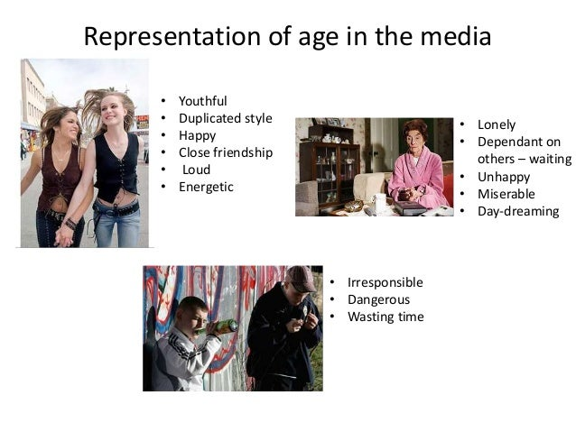 representation in the media This a-level sociology section looks at age, social class, ethnicity, gender, sexuality and disability it covers the mass media representations of gender, the theoretical perspectives on media representations of gender, the mass media representations of sexuality, disability, social class and age and the mass media representations of ethnic minorities.