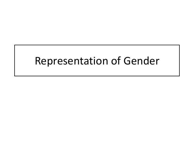 Representation of Gender