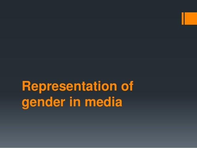 Representation of  gender in media