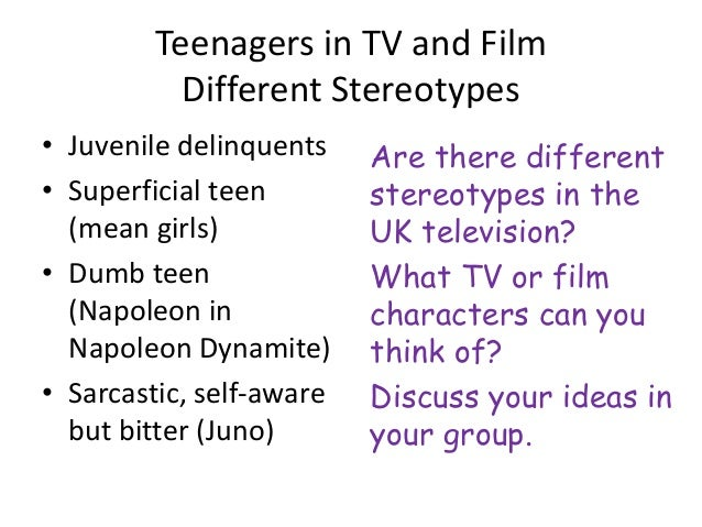 teenagers representation Links to articles about the way in which teenagers are represented in the media on film, television and in the news for as level media studies students.