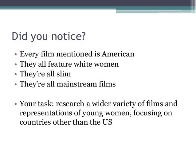 gender representation in film We're getting a little tired of these all-too-frequently used female tropes.
