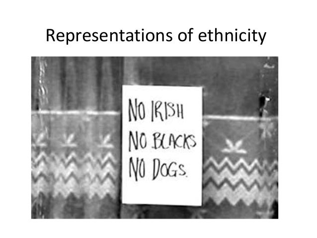 Representations of ethnicity