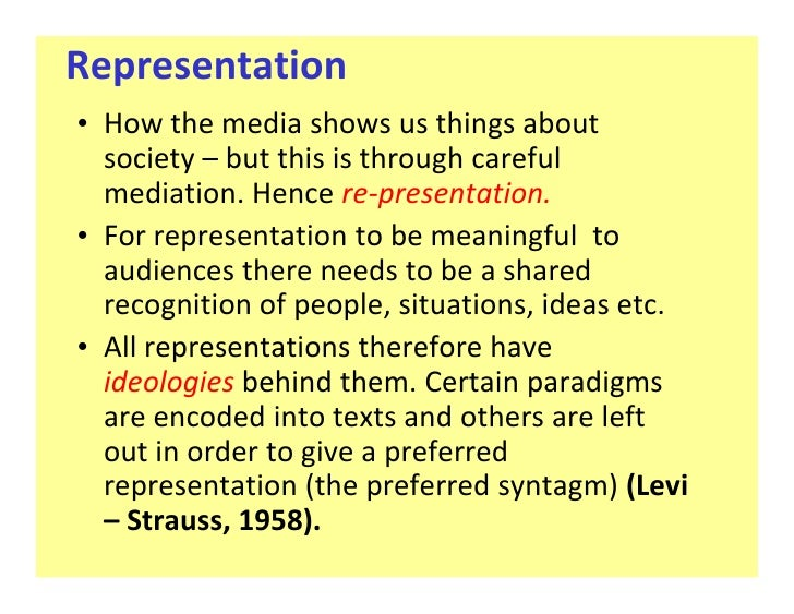 representation coursework