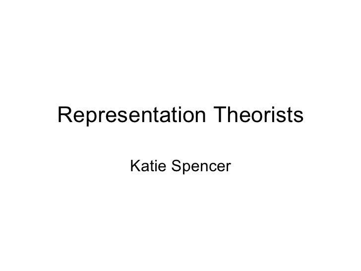 Representation Theorists Katie Spencer