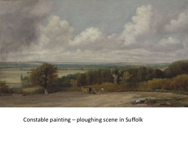 Constable painting – ploughing scene in Suffolk